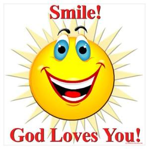 smile god luv u